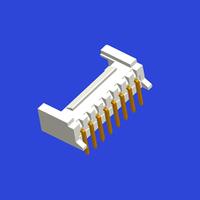 PH2.0mm間距單排帶扣T6彎針