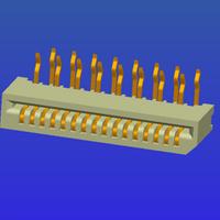 1.0mm間距B型單面接彎針無鎖式FPC