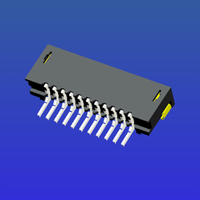 1.0mm間距E型雙面接T2臥貼無鎖式FPC