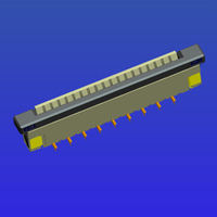 1.0mm間距帶鎖立貼抽屜式FPC