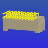 PH2.0mm間距雙排加厚帶扣T2彎針